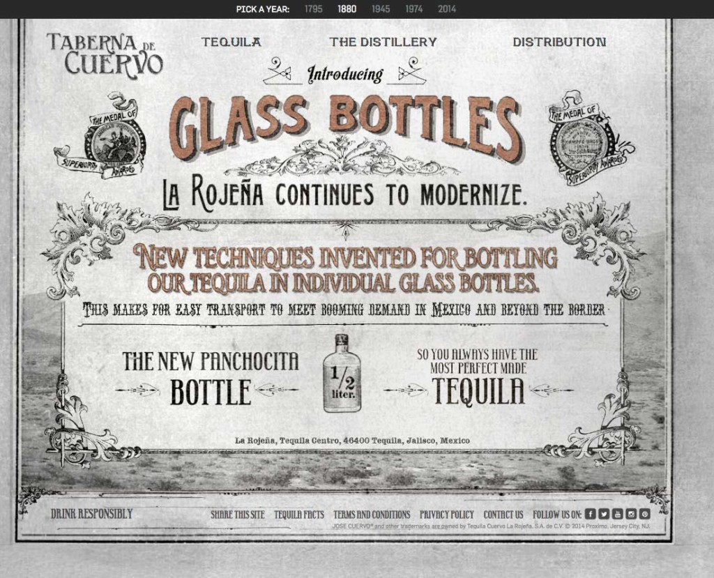 Jose Cuervo's website as it could have looked 1880.