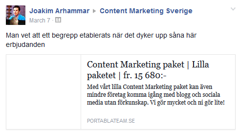 Content marketing-paket till salu!