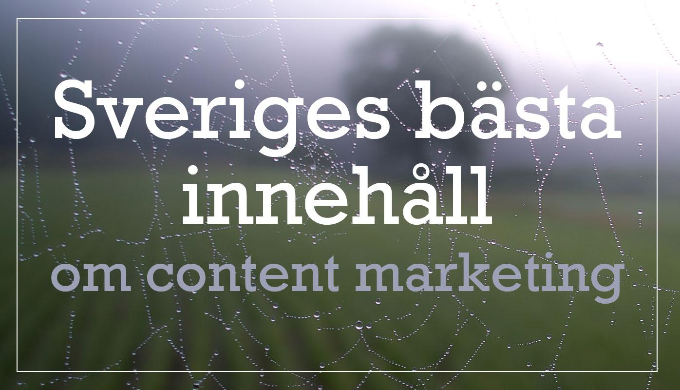 Sveriges bästa innehåll om content marketing